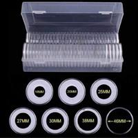 40 db érmetartó kapszula 46mm-es érmékhez, dobozban, hab-betéttel