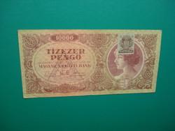 10000 pengő 1945  Nem hivatalos jelölés bélyegzéssel!