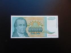 500000 dinár 1993 Szép ropogós bankjegy 01