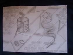 Kun Beáta (1991-): Csak utánad. Szén, papír, jelzett, 30x42 cm
