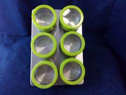 6 darabos mágneses érmetartó alkalmatosság tároláshoz és tisztításhoz zöld (id43640)