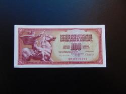 100 dinár 1981 Jugoszlávia Szép ropogós bankjegy  02