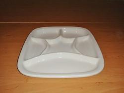 Osztott négyzetes kínáló tál tányér 23*23  cm (2p)