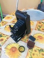 Régi harmonikás fényképezőgép Glunz márka