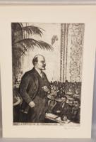 Propaganda rézkarcok a 60-70-es évekből Lenin és a Bolsevizmus korából (17 db-os album)