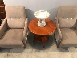 Felújított retro fotel pár 1960-as évek B025