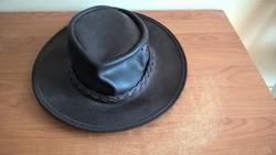 Bőr cowboy kalap Swagman
