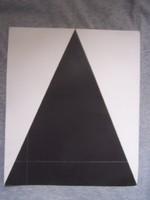 Heintz-Günter Prager: Kompozíció fekete háromszöggel  Szitanyomat, 29 x 34,5cm. Jelzett