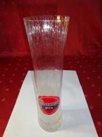 Német üveg sörös pohár, Murauer Pils reklám, 3 dl.
