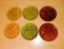 Osztott jelzett kerámia tányér készlet 6 db egyben 21,5 cm (2p)