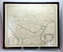 18. századi térkép -Nova et Accurata Regni Hungariae Tabula, ad Usum Serenissimi Burgundiae Ducis