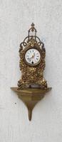 Gyönyörű bronz,réz, posztamens, szobor tartó polc,falipolc,óra tartó szobortartó,falra! Konzol