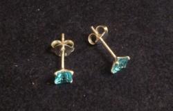 Gyönyörű kék köves ezüst fülbevaló