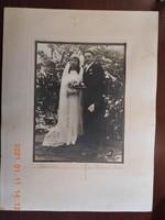 Antik esküvői fotó, fénykép