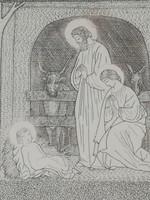 Kádár Lívia rézkarc : Születés