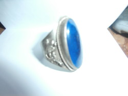 Ezüst gyűrű nagy méretű, állítható, misztikus