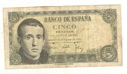 5 peseta 1951 Spanyolország 1.