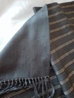 ALTEA Milano kétoldalas férfi selyem sál, 133 cm hosszú + 11 cm a rojt