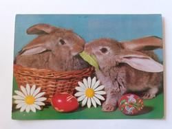 Retro húsvéti képeslap 1978 nyuszis levelezőlap