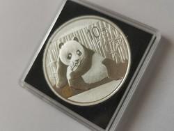 2015 Kína ezüst panda 31,1 gramm 0,999 Ritkább veret