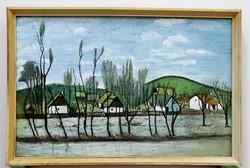 FALUSI UTCA, JÓ KVALITÁSÚ FESTMÉNY, 1940-1960
