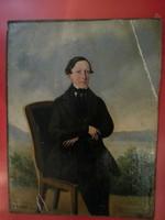 Biedermeier férfi portré