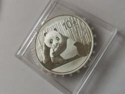 2015 Kína ezüst panda 31,1 gramm 0,999 Ritka