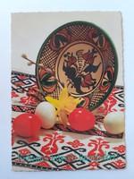 Retro húsvéti képeslap kerámiás levelezőlap