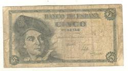 5 peseta 1948 Spanyolország 2.