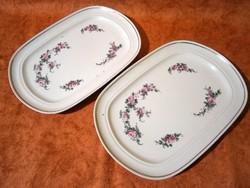 F_026 2 db GDR Ilmenau Henneberg porcelán süteményes, sültes kínáló tál, tányér 30 x 22 cm