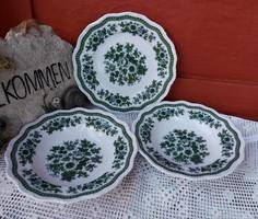 Setmann Weiden Bavaria német porcelán zöld tányérok tányér