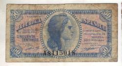 50 centimos 1937 Spanyolország