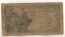 5 peseta 1945 Spanyolország