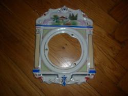 Antik porcelán paraszt óra előlap