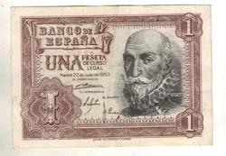1 peseta 1953 Spanyolország .