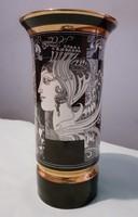 Szász Endre hollóházi porcelán váza 26 m-es