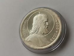 Szt István ezüst 5 pengő,verdefényes darab kapszulában,így Ritka
