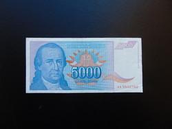 5000 dinár 1994 Jugoszlávia 02