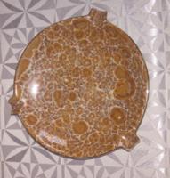 Hollóházi porcelán hamutál (Liszter mázas )