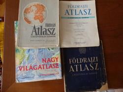 4 db Földrajz atlasz