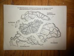 Régi irredenta levelezőlap feldarabolt magyarország