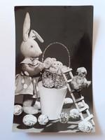 Retro húsvéti képeslap 1967 nyuszis játékos levelezőlap