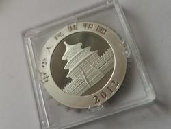 2012 Kína ezüst panda 31,1 gramm 0,999 Ritka