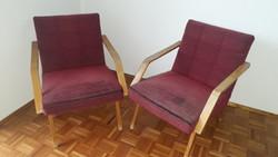 Brusel 58 tipusú csehszlovák retró fotel, karosszék mid-century