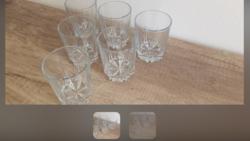 Üveg pohár 6 db