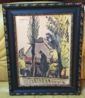 Nyergesi János akvarell (1968)