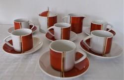 Retro, hollóházi, 6 személyes kávés/mokkás készlet
