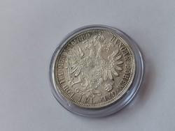 1889 ezüst 1 florin,gyönyörű darab, kapszulában,így nagyon ritka!!!