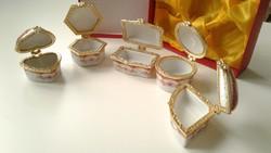 5 db mini porcelán ékszertartó