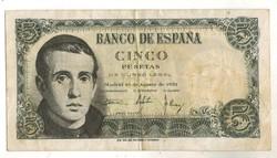 5 peseta 1951 Spanyolország 2.
